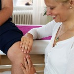 Behandlung am Knie